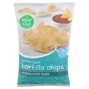 White Corn Tortilla Chips, Restaurant Style