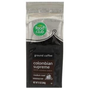 Ground Coffee - Colombian Supreme, 100% Colombian Arabica, Medium Roast