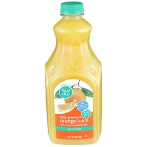 100% Premium Orange Juice - With Pulp, Grove Style