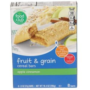 Apple Cinnamon Fruit & Grain Cereal Bars