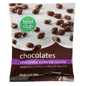 Chocolate Covered Raisins Chocolates