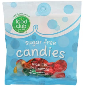 Sugar Free Candies, Fruit Buttons