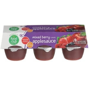 Applesauce, Mixed Berry Flavored