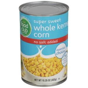 Super Sweet Whole Kernel Corn - No Salt Added