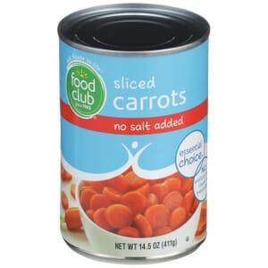 Sliced Carrots - No Salt Added