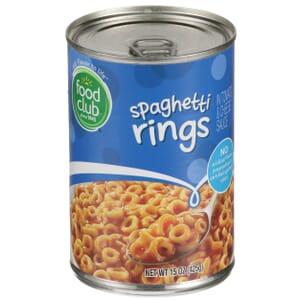 Spaghetti Rings In Tomato & Cheese Sauce