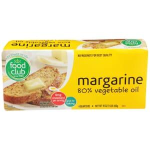 Margarine 80% Vegetable Oil
