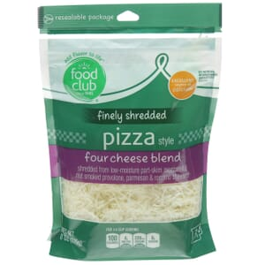 Finely Shredded Pizza Style Four Cheese Blend