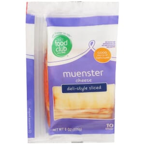 Muenster Cheese, Deli-Style Sliced