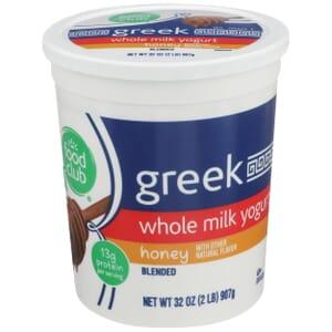 Honey Greek Whole Milk Yogurt, Blended