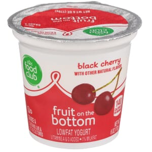 Black Cherry Lowfat Yogurt, Fruit On The Bottom