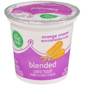 Orange Cream Lowfat Yogurt, Blended