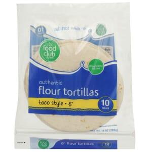"""Authentic Flour Tortillas, Taco Style - 6"""""""