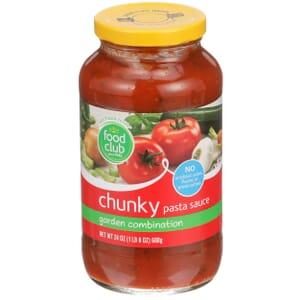 Chunky Pasta Sauce, Garden Combination
