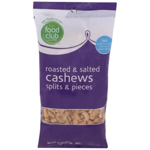 Cashews - Roasted & Salted, Splits & Pieces