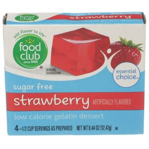 Sugar Free Strawberry Low Calorie Gelatin Dessert