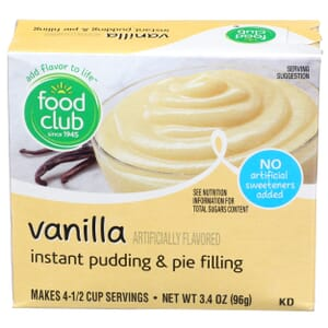 Vanilla Instant Pudding & Pie Filling