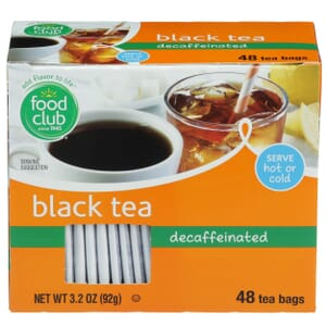 Black Tea, Decaffeinated