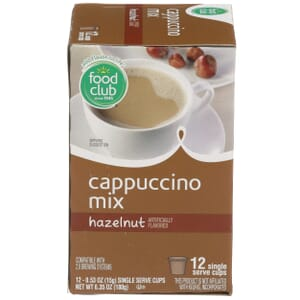 Single Cup Coffee - Cappuccino Mix, Hazelnut
