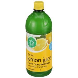 100% Lemon Juice