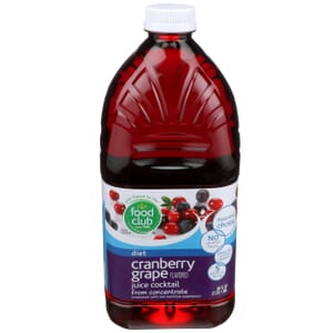 Diet Cranberry Grape Juice Cocktail