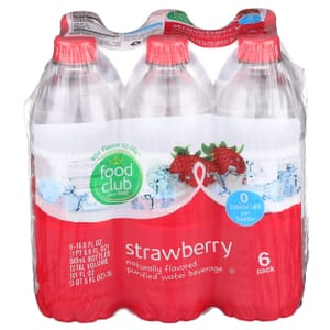 Strawberry Purified Water Beverage