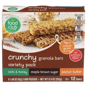 Crunchy Granola Bars Variety Pack
