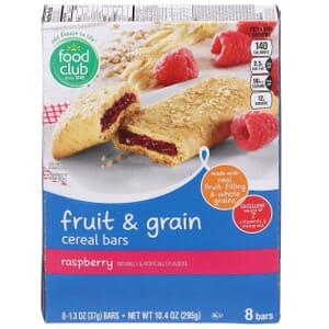 Raspberry Fruit & Grain Cereal Bars
