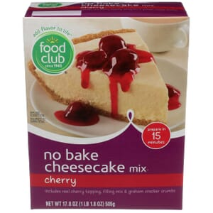 Cherry Cheesecake Mix, No Bake