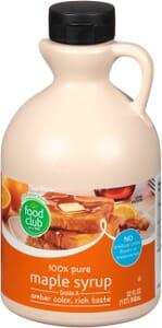 100% Pure Maple Syrup, Grade A