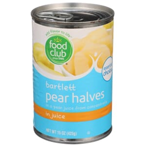 Bartlett Pear Halves In Juice