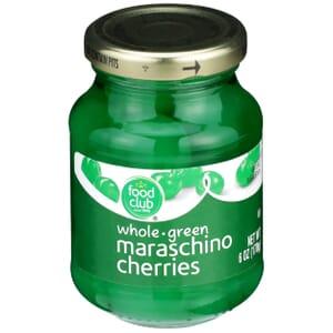 Maraschino Cherries, Whole Green