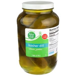 Kosher Dill Pickles, Whole Jumbo