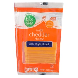 Mild Cheddar Cheese, Deli-Style Sliced