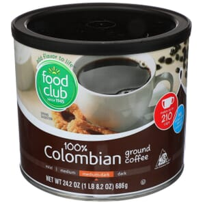 Ground Coffee - 100% Colombian, Medium-Dark