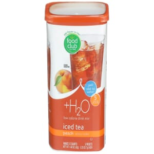 +H2O To Go!, Low Calorie Drink Mix, Iced Tea, Peach