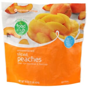 Peaches - Sliced, Unsweetened