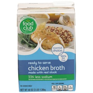 Chicken Broth, Ready To Serve - 33% Less Sodium