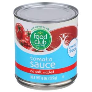 Tomato Sauce - No Salt Added