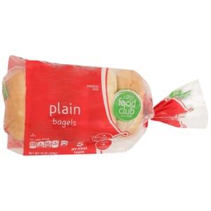 Plain Bagels, Pre-Sliced