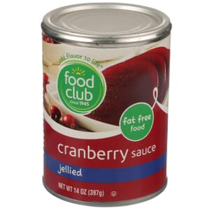 Cranberry Sauce, Jellied