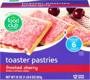 Frosted Cherry Toaster Pastries