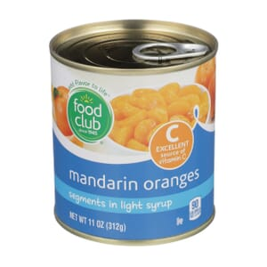 Mandarin Oranges, Segments In Light Syrup