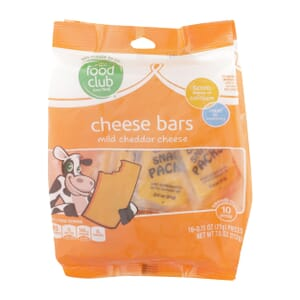 Mild Cheddar Cheese, Cheese Bars