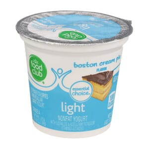 Boston Cream Pie Light Nonfat Yogurt