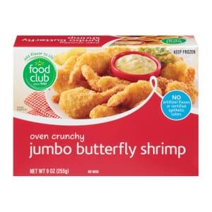 Oven Crunchy Jumbo Butterfly Shrimp