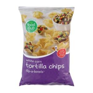 White Corn Tortilla Chips, Dip-A-Bowls