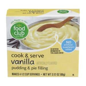 Vanilla Cook & Serve Pudding & Pie Filling