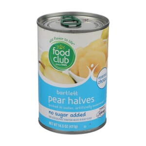 Bartlett Pear Halves - No Sugar Added