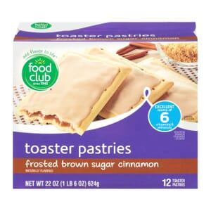 Frosted Brown Sugar Cinnamon Toaster Pastries